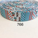 """5 yard -  1"""" Cat In The Hat, Thing 1 and Thing 2 with Striped and Polka Dot Grosgrain Ribbon"""