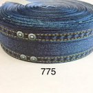 "5 yard - 1.5"" Denim Grosgrain Ribbon"