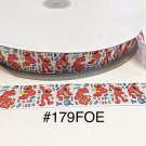 "5 yard - 1"" Elmo School ABC 123 Fold Over Elastic Headband Hair Accessories"