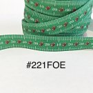 "5 yard - 5/8"" Sport Football inspired on Green Fold Over Elastic"