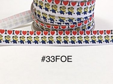 "5 yard - 5/8"" I Love Minion Fold Over Elastic"