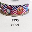 "5 yard - 1.5"" Shopkins Multi Color Zig Zag Grosgrain Ribbon"