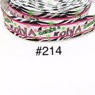 """5 yard - 1"""" Christmas Santa Diva with Zebra Motif Grosgrain Ribbon"""