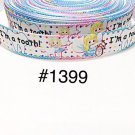 "5 yard - 7/8"" Dentist I'm A Tooth and Fairy Polka Dot White Grosgrain Ribbon"