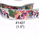 "5 yard - 1.5"" Christmas My Little Pony and Friends wearing Santa Hat Grosgrain Ribbon"