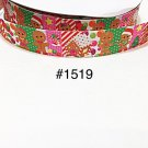 "5 yard -  7/8"" Christmas Gingerbread with Gingerbread House Grosgrain Ribbon"