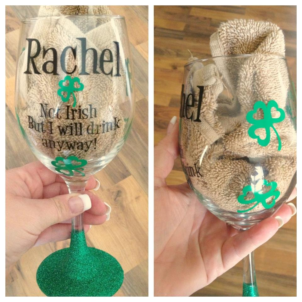 Glitter base wine glass How to make wine glasses sparkle