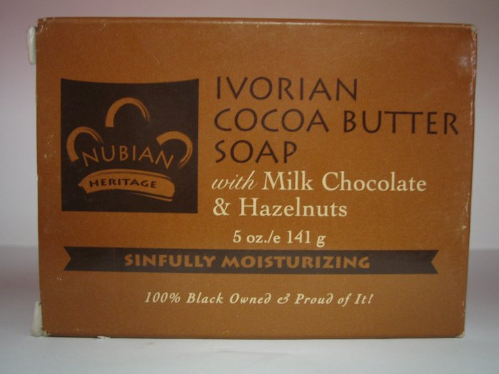 (milk chocolate and hazelnut)Ivorian Cocoabutter Soap