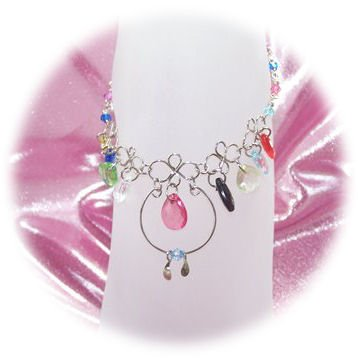 Multi-Color Front Drop Zircon Anklet