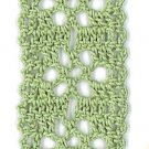 Hand-Crocheted Bookmark - 001 - Celadon Green