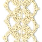 Hand-Crocheted Bookmark - 002 - Cream