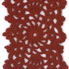 Hand-Crocheted Bookmark - 004 - Burgundy