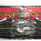 "WAVE Tiki Man WORMs Soft Fishing Baits Lures Grass Craws 3"" WatermelonRed NIP"