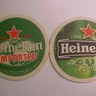 "Vintage Heineken Beer Ale Pilsner 4"" Coaster Mat Bar Pub Can Drinking Coaster -*"