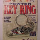 Mark Martin NASCAR #6 Valvoline Car Pewter Key Chain Ring FOB NEW GREATBASS