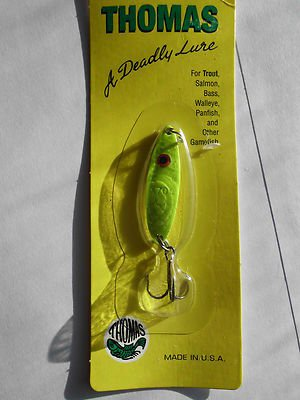 Thomas Rough Rider Spoon Lure 1/5oz Buoyant Spoon Lure Chart PanFish Bait NEW**