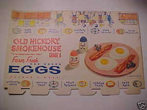 Vintage Egg Carton Box Paper Crate Egg-cel 50's Old Farm Eggs Carton NOS L@@K
