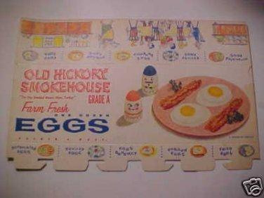 Vintage Chicken Egg Carton Box Paper Crate Egg-cel Farm House Eggs 1950's NOS