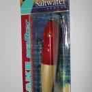 Hurricane Lure Wake Walker Saltwater 1oz Red Head Wooden Fishing Lure Plug NIP