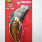 Arkie Crappie Crank-Bait Lure Bait Black Gold Shad Bass Pan Fishing Lure NIP