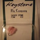 Keystone Fly Nymphs Trout Pan Fishing Flies Flys Lures Sucker Spawn Pink #10 NEW