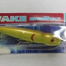 Hurricane Lure Wake Walker Saltwater 1oz Yellow Wooden Fishing Lure Plug NIP