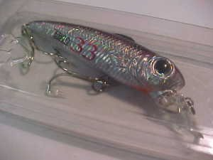 Zebco 33 Silver Black Minnow Bass Collectible Fishing Tackle Lure Bait NiP