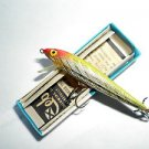 Vintage Rebel Minnow Lure New Old Bass Fishing Bait Lure Yellow NEW