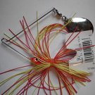 1/4oz Spinner-Bait Yellow Red Great-Bass Fishing Lure Chrome Colorado Blade NEW!