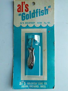 Vintage Al's Goldfish Metal Spoon Bait Lure G100 Ice Fishing Tackle 3/16oz NIP