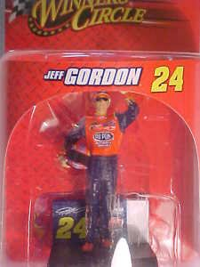 """Jeff Gordon #24 Dupont NASCAR Collectible 3"""" Toy Action Racing Figure NEW Old 08"""