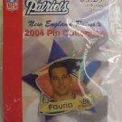Christian Fauria #88 New England Patriots Foot-Ball 2004 NFL Pin Lapel NEW LwShp