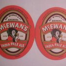 Mc.Ewan's India Pale Ale Beer Can Coasters Mats 4 Brewery Bar Pub Coasters LOOK