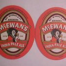 Mc.Ewan's India Pale Ale Beer Can Coasters Mats 8 Bar Pub Beer Coasters LOOK New