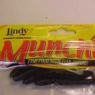 """Lindy Munchies Soft Baits Lures 3"""" Worms Black Neon NEW @ Greatbass"""
