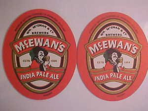 Beer Coasters Mats Mc.Ewan's India Pale Ale 2 Beverage Cocktail Bar Coasters NEW