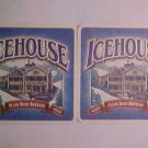 6 Ice-House Beer Glass Ale Pilsner Coasters Mats LOOK