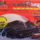 "Kangaroo Soft 4"" Blue Black Plastic Worms Baits Freshwater Bass Fishing Lure NIP"