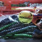 """Kangaroo Soft Plastic 6"""" Worms Scented Baits Lures HuckleBerry NOS"""