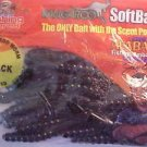 Kangaroo Soft Black Plastic Worms Baits Bass Freshwater Fishing Tackle NOS