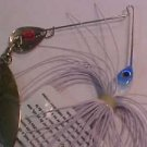 Bass Pike 1/4oz Blue White Spinner Bait Lure Fishing Tackle NEW @ GREATBASS