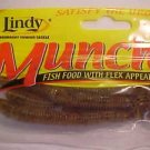 "Lindy Munchies Baits Lure 3-3/4"" Worm Pumpkin-seed GR8 Bait NEW"