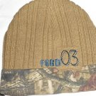 Mossy Oak Ford Car Truck Knit Winter Beanie Camo Hat Cap Hunting Ice Fishing NEW