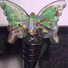 Ashley Nicole Handcrafted Art Glass Bar Wine Topper Bottle Stopper ButterFly NEW