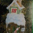 Bobby Labonte NASCAR #18 Racing Lighted Christmas Tree Ornament Snow Globe NEW