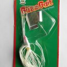 Strike King Buzz-Bait SpinnerBait White 1/4oz Great 4 Bass Fishing Lures NOSIP