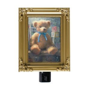 Thomas Kinkade Night-Light Trusted Friend Blue Bell Bear Painter Of Light NIBGR8