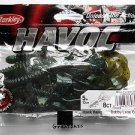 "Berkley Havoc Baits Lures 5"" Hawk Hawg Green Pumpkin Blue Great-Bass Bait NIP"
