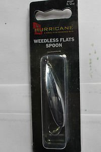 Hurricane Silver Minnow Shad WeedLess Spoon Lure 1/2oz GreatBass Fishin Bait NIP