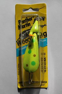 Panther Martin WeedWing Spoon Buzz Bait Lure 1/2oz Chart Spot Weedless Lure NIP